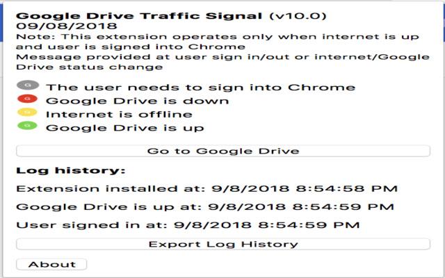 Google Drive Traffic Signal