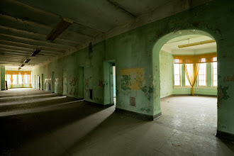 Photo: Ward hallway in Athens State Hospital.