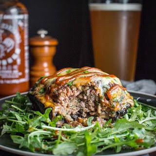 Tasteaholic's Low Carb Cookbook & Cheesy Portobello Mushroom Burgers.