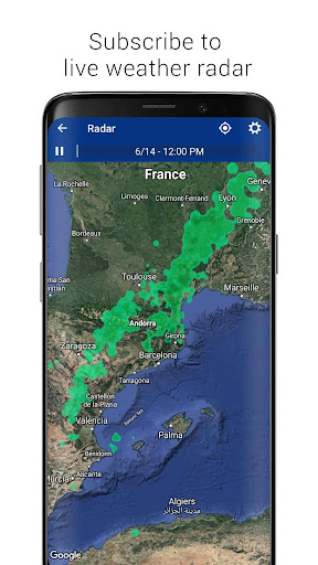Transparent clock & weather - forecast & radar screenshot 11