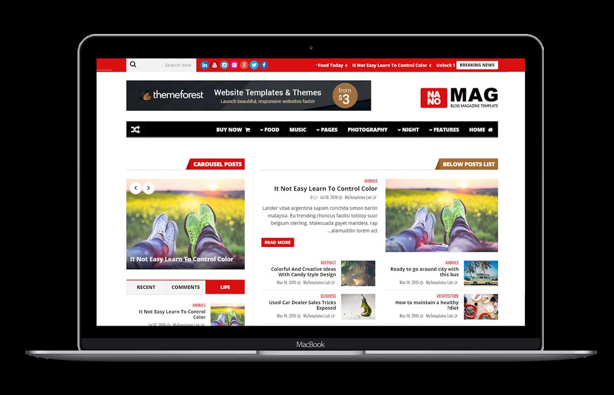 NanoMag - Responsive Blog & Magazine Blogger Template - 16