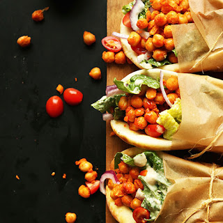 Spicy Buffalo Chickpea Wraps.