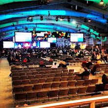 """Photo: North Hall, before the keynote session """"Navigating Retail's Relentless Reailty: What CEOs are doing to thrive in a consumer-driven world"""" moderated by Rich Karlagaard, publisher, Forbes magazine. #nrf14"""