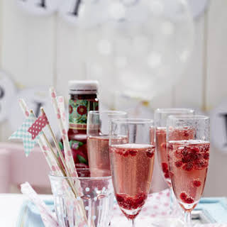 Champagne and Pomegranate Cocktail.