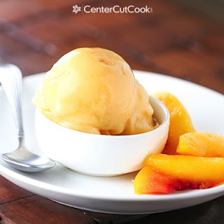 Peach Ice Cream {Healthy, Dairy-free}.