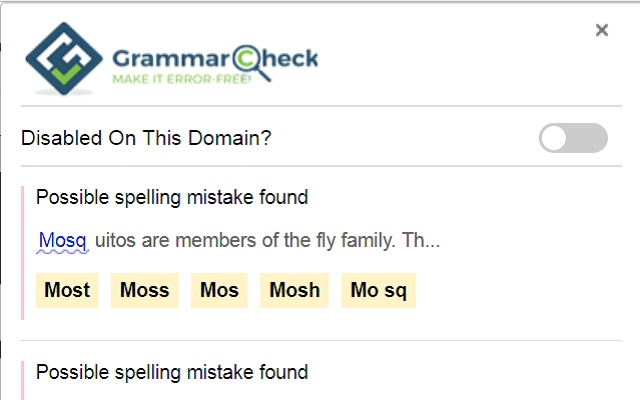 My Grammar Check