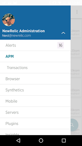 New Relic Android app 2.9.12 screenshots 1