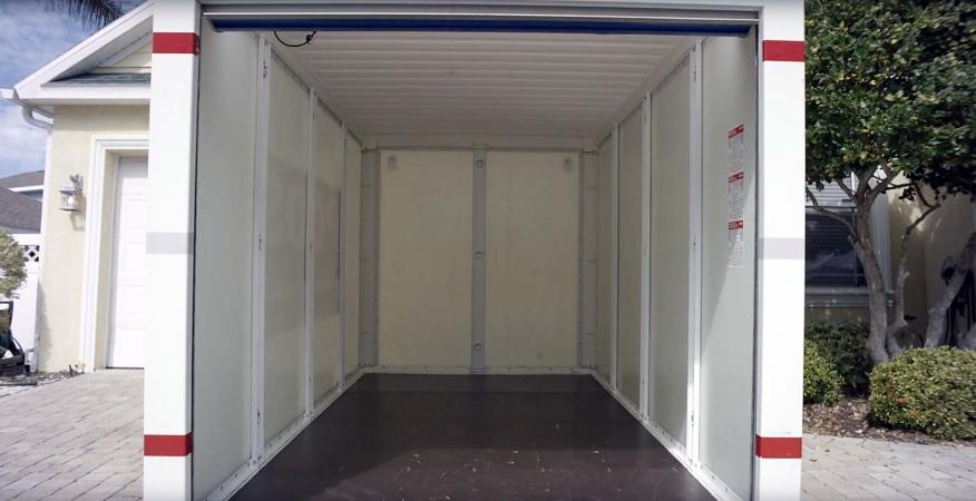 empty PODS storage container