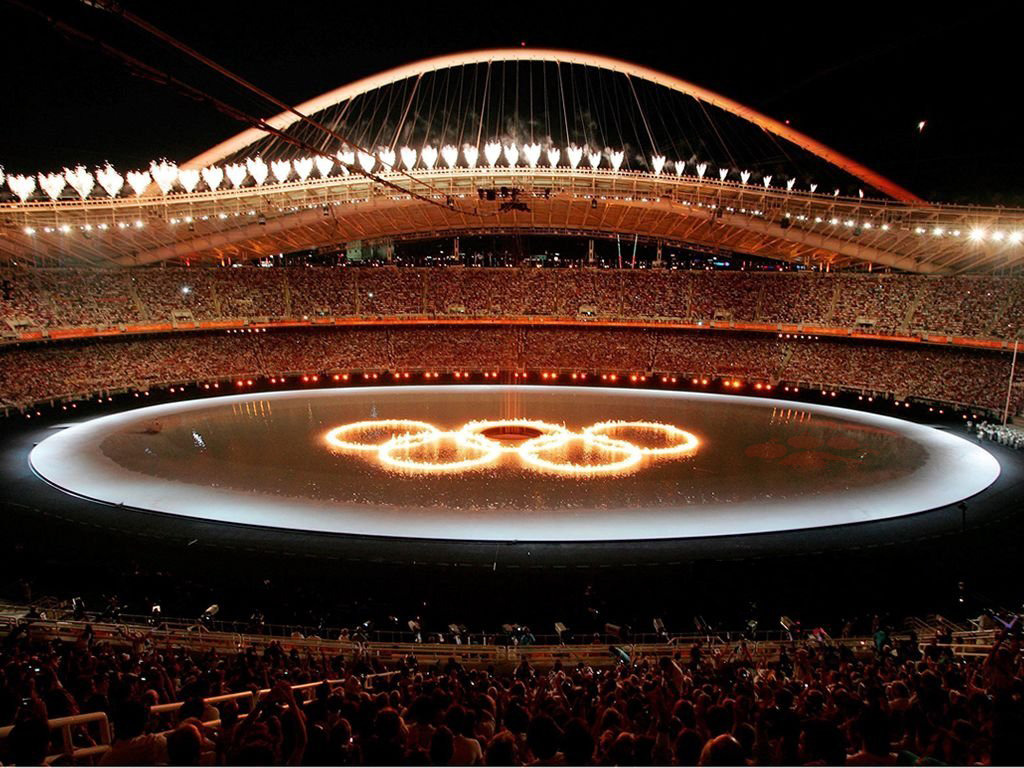 The opening Ceremony of the Olympic Games in Athens 2004