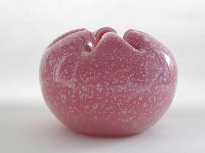 Photo: Murano rose bowl with mica aventurine
