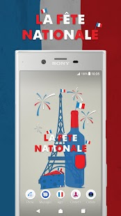 XPERIA™ La Fête Nationale Theme- screenshot thumbnail
