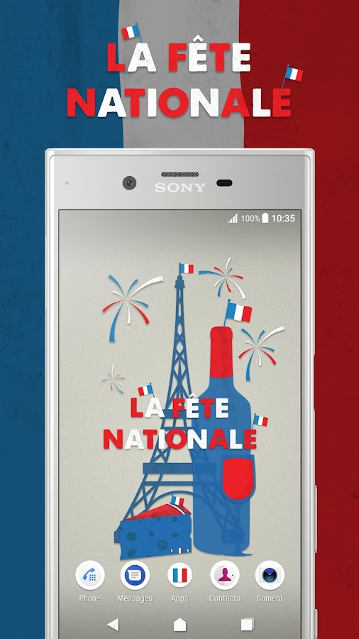 XPERIA™ La Fête Nationale Theme- screenshot