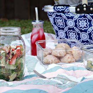 Strawberry Romaine Salad in a Jar