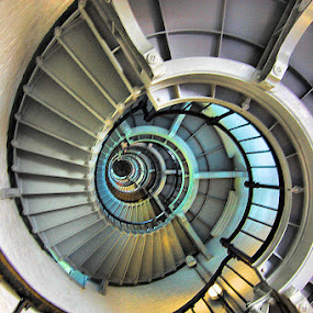 Looking Up The Lighthouse by Terry Davey - Buildings & Architecture Other Interior ( lighthouse )