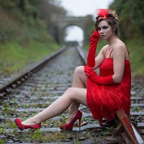 Flapper by Brian Pierce - People Portraits of Women ( railway, helston, zoe,  )