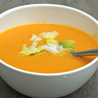 Pumpkin Soup with Roasted Garlic