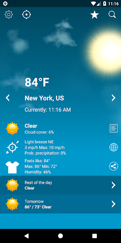 Weather XL PRO Android App Screenshot