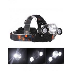 Lanterna profesionala de cap reglabila cu triplu LED