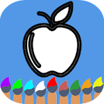 Fruits Vegetables Coloring Book For Kids