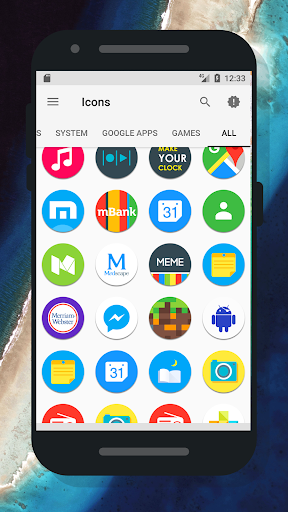Android için Pixel Nougat - Icon Pack Uygulamalar screenshot