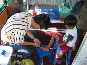 Photo: Bus clinic, band-aid & love fix
