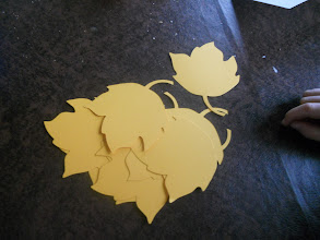 Photo: Cut 10 dies (we are making 10 cards for Thanksgiving dinner)
