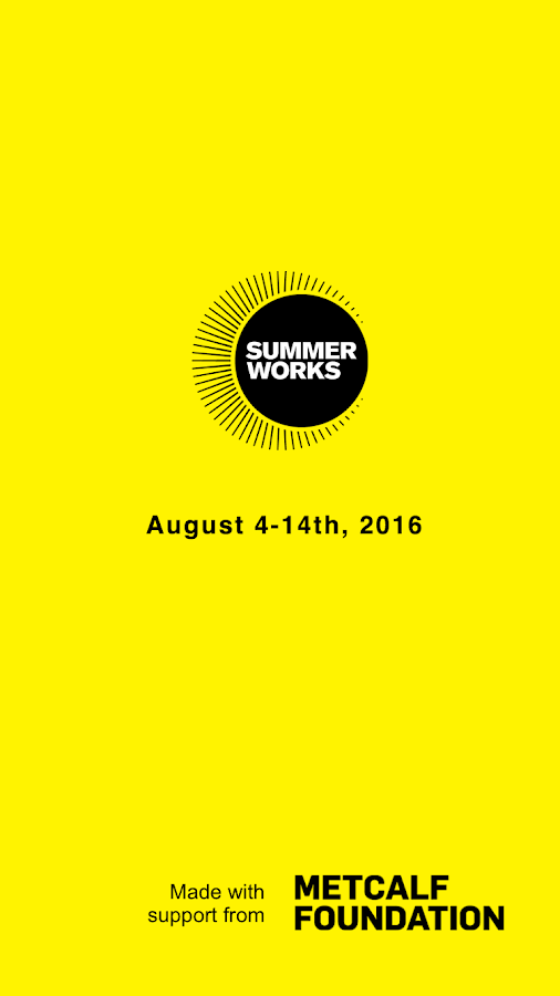 SummerWorks 2016- screenshot