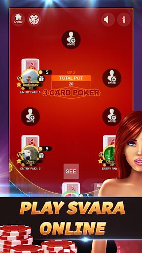 Svara - 3 Card Poker Online Card Game 1.0.11 screenshots 1