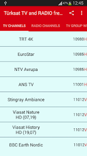 Turksat TV and Radio Frequencies - náhled