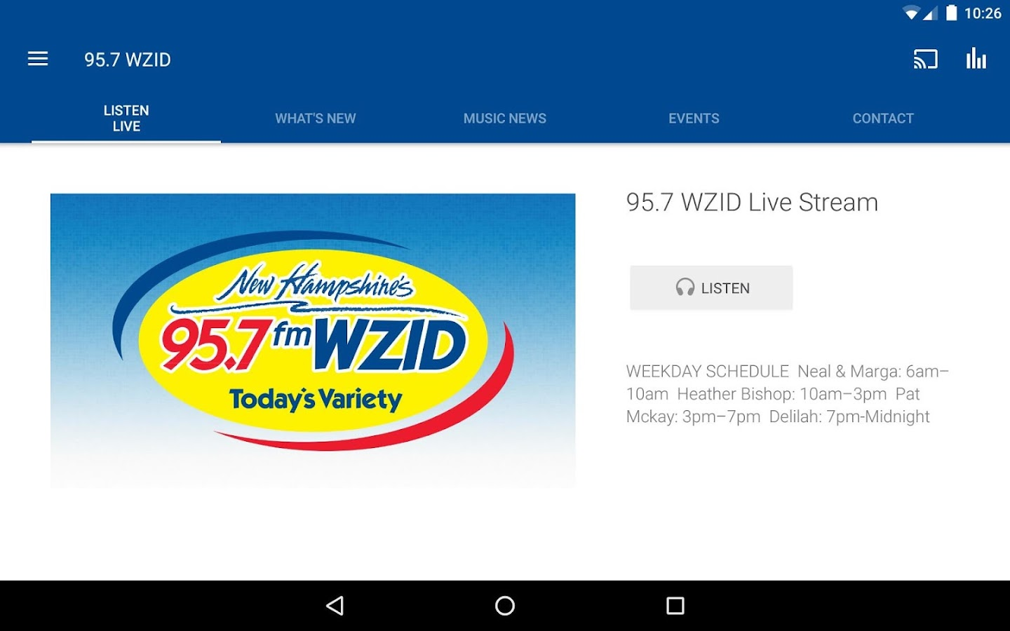 95.7 WZID- screenshot