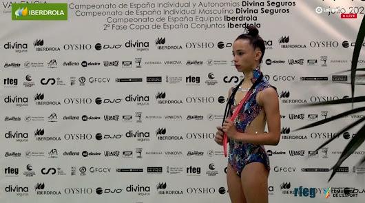 Ainhoa Soler se clasifica séptima en el Campeonato de Gimnasia Rítmica