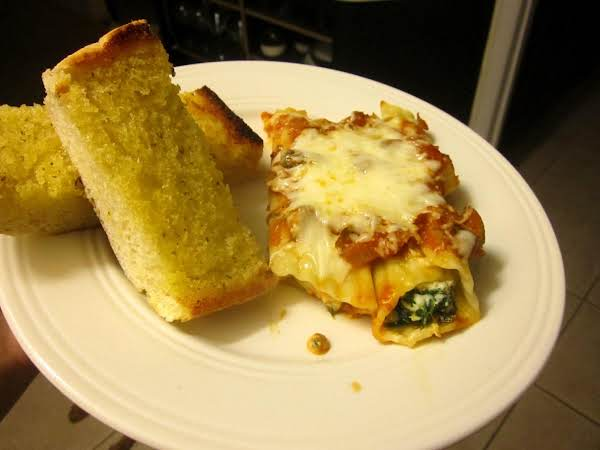 Super Easy Spinach & Mushroom Manicotti(or Shells) Recipe