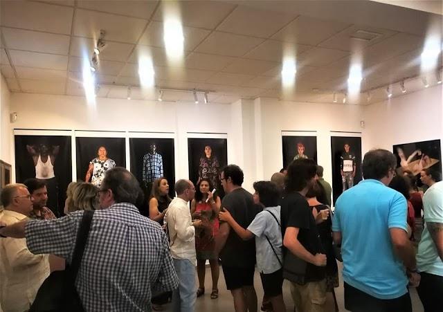 MECA, durante la inauguración de la muestra de Francisco Uceda.