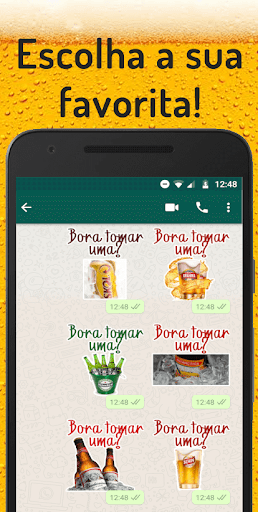 Figurinhas de cerveja - WAStickerApps screenshot 1
