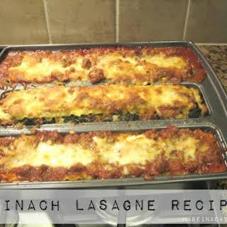 Spinach Lasagne.