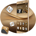 Theme for Huawei P9 HD: Dark Gold icon