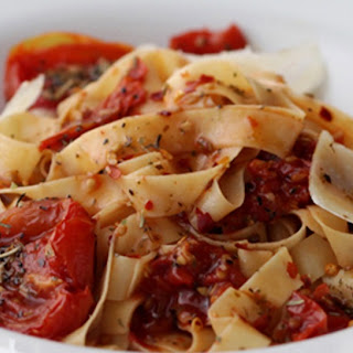 Mediterranean Pasta with Fire Roasted Tomatoes.