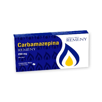 Carbamazepina Remeny 200 mg x 10 Tabletas