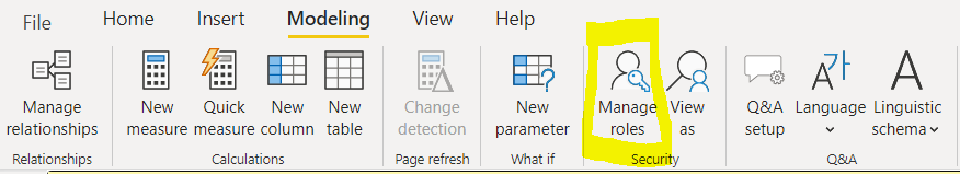 Manage Roles in Power BI