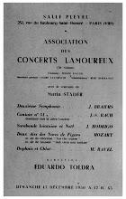 Photo: Programa d'una actuacio amb l'Orquestra Lamoureux (1950)