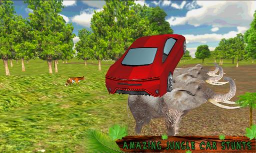 Crazy Jungle Car Stunts 3D