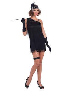 Charlestonklänning, svart