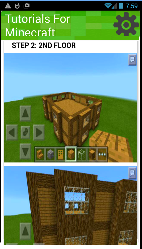 Tutorials for minecraft build android apps on google play House building app