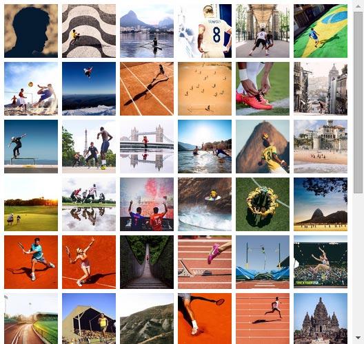 Uniform grid of Instagram images created withSmash balloon social photo feed Instagram WordPress Plugin