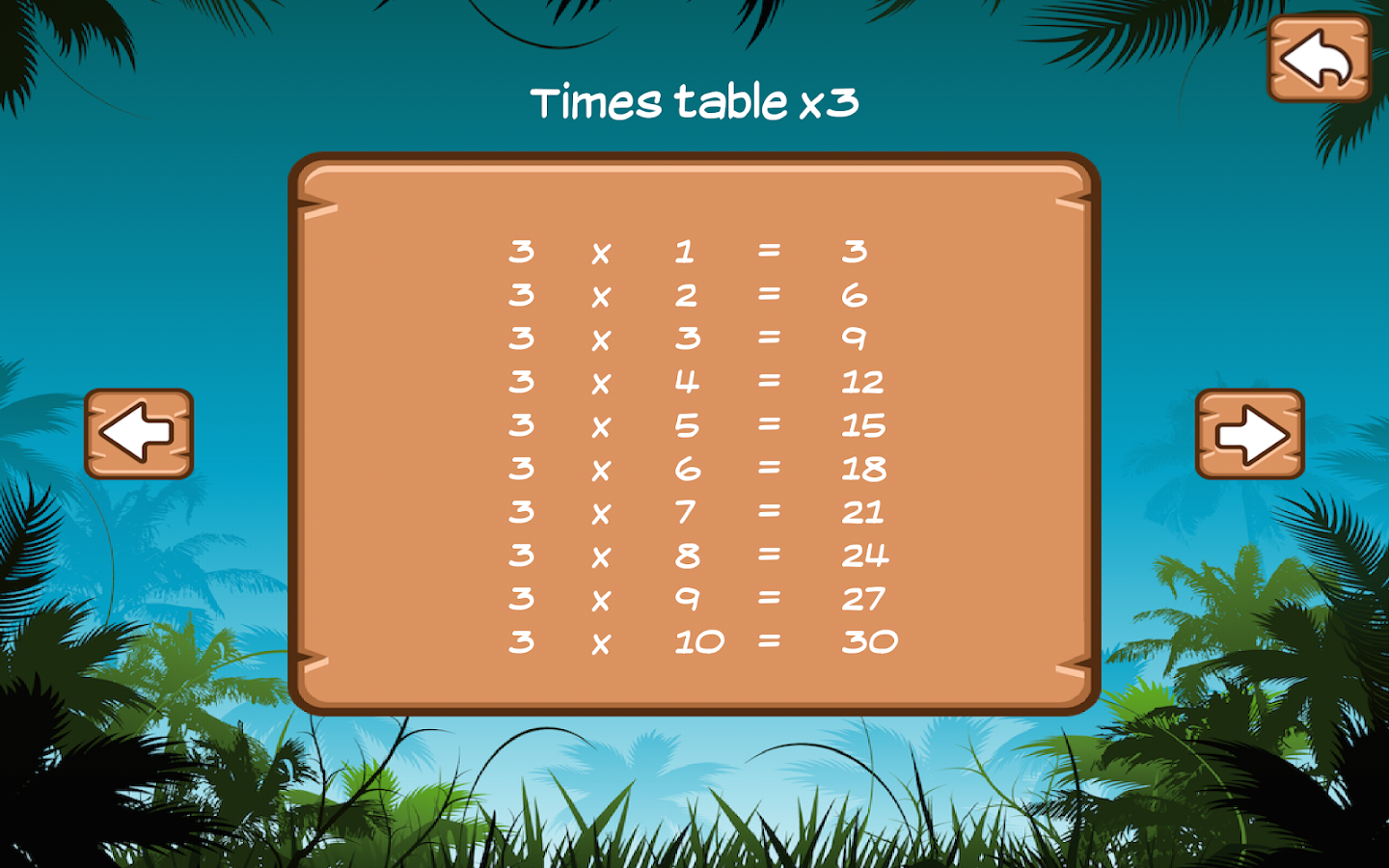 Time Tables- screenshot