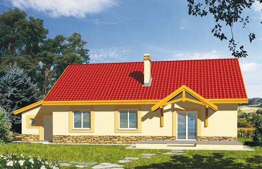 projekt Gienia energo+ wersja A bez garażu strop drewniany