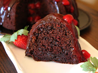 Dark Chocolate Strawberry Margarita Cake Recipe
