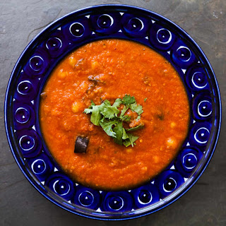 Roasted Eggplant and Tomato Soup.