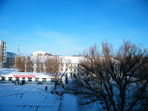 Photo: sunny morning after 2 days' blizzard, after reunited with son, warrenzh, blessed benzrad, the proud father in his ignorance upon warrenzh's cold. here QRRS dorms where benzrad praying for his new family, Royal China, to home his sons and daughters more cozier.
