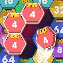 Cat Cell Connect - Merge Number Hexa Blocks icon